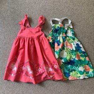 Bundle of two adorable girls sundresses!